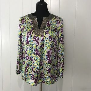 Boden LIMITED EDITION Silk Blouse with Sequins 6
